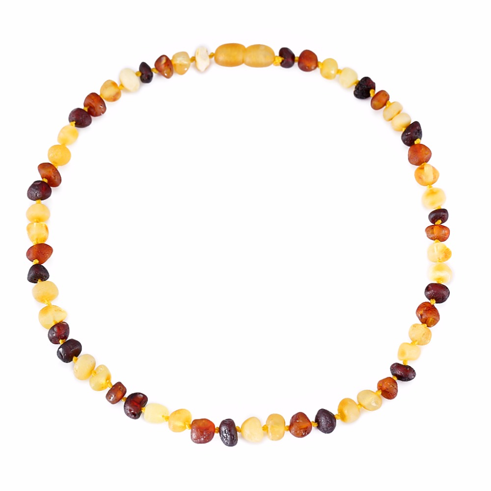 [DROPSHIP] Baltık Amber Teething Kolye/Bilezik için Bebek-Basit Paket-3 Sizes-4 Colors