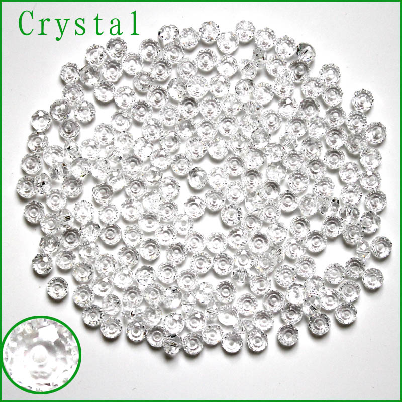 1000 ADET/GRUP Çek Tohum Rondelle Boncuk 3x4mm Faceted Kristal DIY Takı Faceted 5040 Cam Kristal Boncuk Spacer