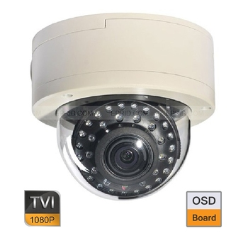 24 ADET HD TVI 2MP 1080 P Vandal Proof Dome Kamera 2.8-12mm Varifocal Lens OSD Kurulu