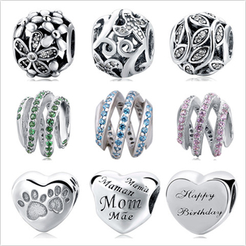 925 Sterling Silver Cinderella's Wish Charm Fit Pandora Bracelet Bangles Charms Original DIY Jewelry making Gifts