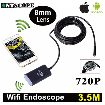 Antscope Wifi Iphone Endoskop Kamera 3.5 M Android Iphone Boroskop 720 P Kamera Endoscopio Android iOS Borescope Kamera