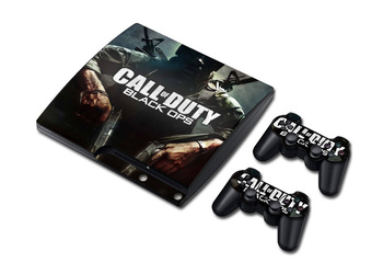 Call of Duty Vinil Cilt Sticker PS3 Slim ve 2 Kontrolör Controle Sony Plastation 3 Ince Derileri Çıkartmalar