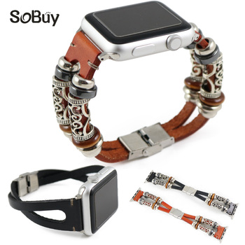 Lxsmart apple için Hakiki deri kayış watch band 42mm 38 s1 s2 bantları moda bilezik deri band iwatch series1/2/3 dana