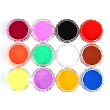 Nail Art Powder Colorwomen 12 Colors Acrylic Carving Nail Powder Dust UV Gel Design Tips Decoration Manicure Nail Art 161130