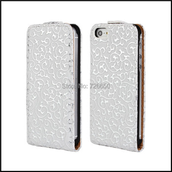 Retro Flower Flip Leather Case for iPhone 5 5s+Free Screen Protector