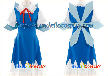Touhou Projesi Cosplay Cirno Elbise H008