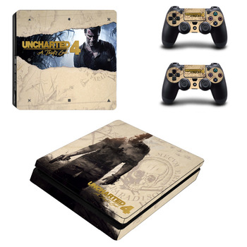 Uncharted 4 Bir Hırsız 'ın End Çıkartması PS4 Ince Cilt Sticker Için Sony PlayStation 4 Konsolu ve Kontrolörleri PS4 Ince Cilt Sticker Vinil