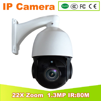 YUNSYE Yeni 4 inç 960 P Hava IP66 1.3MP IP PTZ Dome kamera 22X Optik Zoom 1.3MP mini Güvenlik onvif IP Kamera PTZ IR80M